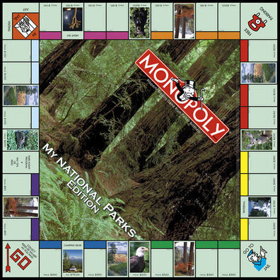 Monopoly My National Parks Edition board