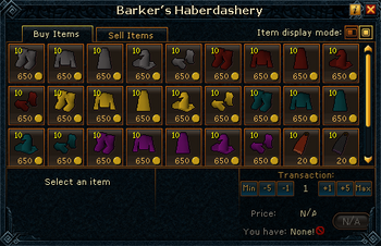 Barker&#39;s Haberdashery stock
