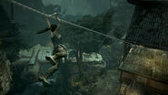 Tomb Raider Screenshot VillageZipline