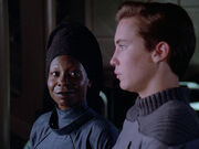 Guinan meets Wesley