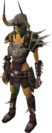 Bandos armour equipped female