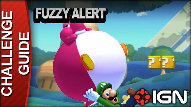 New Super Mario Bros. U Challenge Walkthrough - Fuzzy Alert