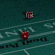 Dice-on-craps-table