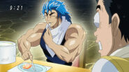 Toriko shining from eating Jewel Meat