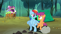 Rainbow comforting look at Scootaloo S3E6