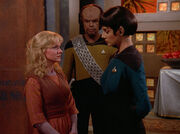 Kareen, Worf, and Selar