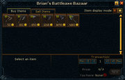 Brian&#39;s Battleaxe Bazaar stock