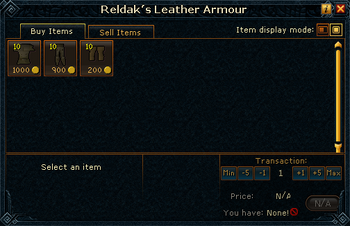 Reldak's Leather Armour stock
