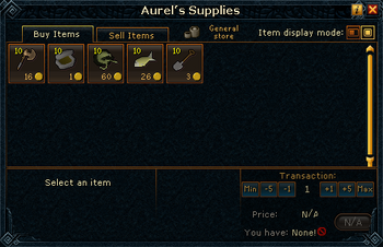 Aurel's Supplies stock