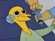 Mr Burns needle