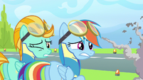 Rainbow Dash & Lightning Dust dang! S3E7