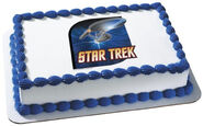 DecoPac Edible Image USS Enterprise cake topper