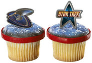 DecoPac Star Trek cupcake rings