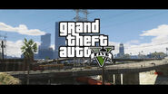 GTA V Logo and a gorgeous background