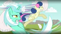 Lyra and Bon Bon pillow epic fight by artist-minimoose772