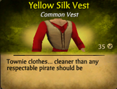 Yellow silk vest