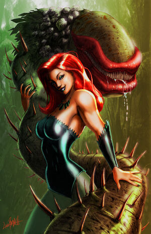 Poison ivy and her monster