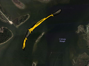 Map view of marsh bay