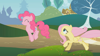 Fluttershy runs after Pinkie S01E07