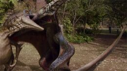 NewWorldPteranodon+UtahraptorFighting
