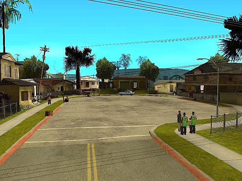 au c  ur du quartier de Ganton   224  Los Santos dans GTA San AndreasGta San Andreas Ballas Vs Grove Street