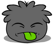 Black Puffle tongue