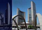 Iconian gateway vs toronto city hall