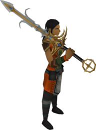Saradomin godsword equipped