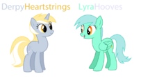 Lyra and Derpy Hooves recolor