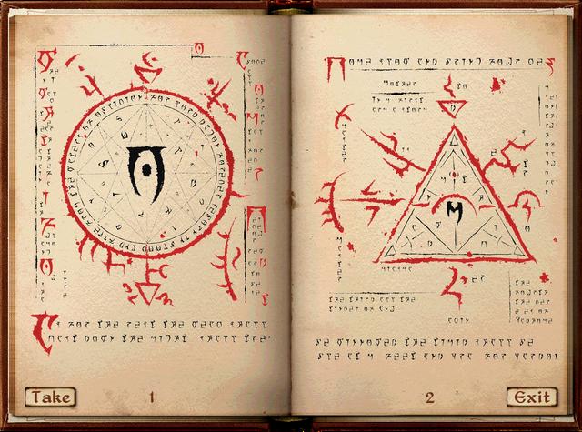 Mehrunes tarafından yazılan ve örgütün başucu kaynağı Mysterium Xarxes