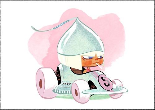 de caramelo casco con forma de fresa de colores rosa con brillos y