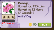 Peony Market Info (January 2012)