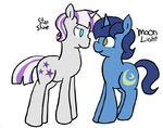 Star Sparkle and Night Light genderswapped by raincupcake