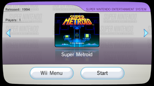 Super Metroid VC Channel preview