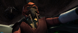Plo Koon piloting