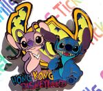 Disney Hong Kong Disneyland (Lilo) Stitch & Angel (Glows in Dark) 2011 HKDL Pin