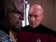 Picard confronts Worf