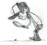 Dipper with magnifying glass