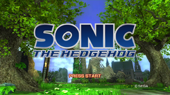 Sonic 2006 title screen