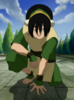Toph feels the earth
