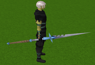 Staff of light equipped (blue)