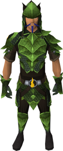 Full Guthix d&#39;hide equipped male