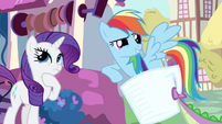 Rarity &amp; Rainbow Dash thinking about it S3E11