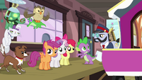 Spike &quot;is three ponies enough?&quot; S03E11