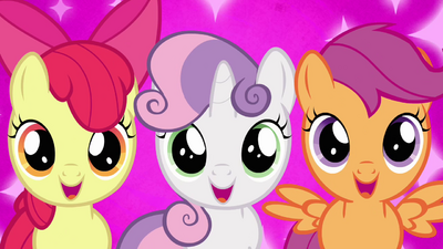 Cutie Mark Crusaders excited &quot;Crystal Empire?!&quot; S03E11