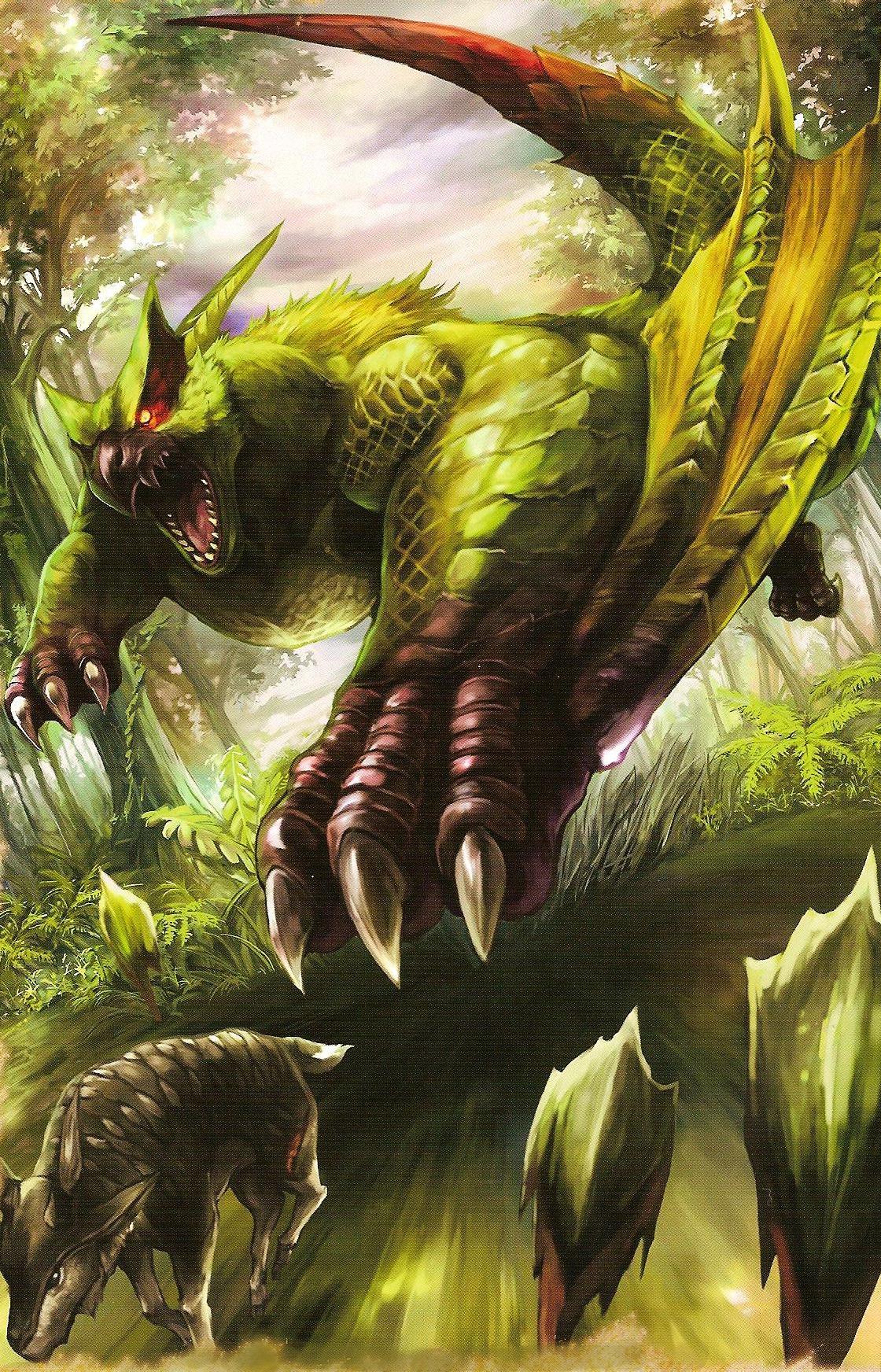 green nargacuga - the monster hunter wiki