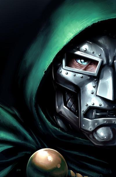 Hełm pancerza wspomaganego Vincenta van Dooma z komiksów Marvela.