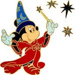 DLR - Mickey Mouse Sorcerer's Apprentice with Stars (4 Pins)