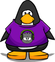 Dubstep Puffle T-Shirt from a Player Card