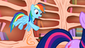Rainbow Dash mane errors S1E9